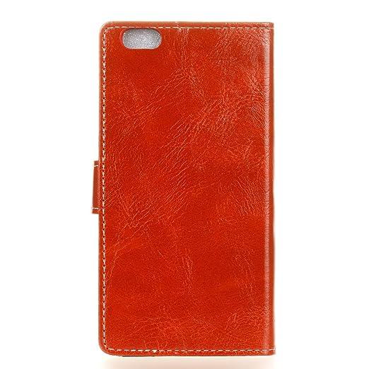 AXRXMA Estilo Genuino de la Calidad Retro del Estilo del Caballo Loco Flip Funda de Cuero de la PU para Xiaomi 6 (Color : Red): Amazon.es: Electrónica