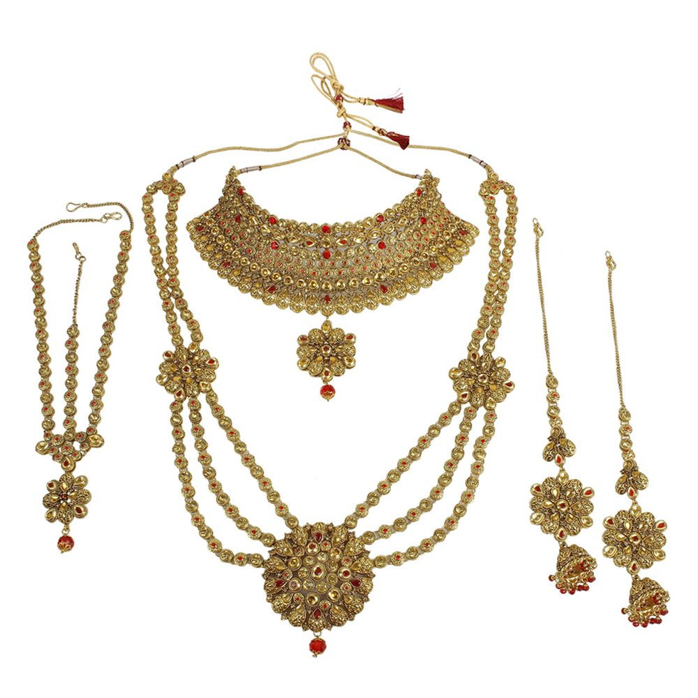 Helpful Beautiful Traditional Indian Cz Stone Necklace Set Bollywood Bridal Jewellery Sale Price Bridal & Wedding Party Jewelry