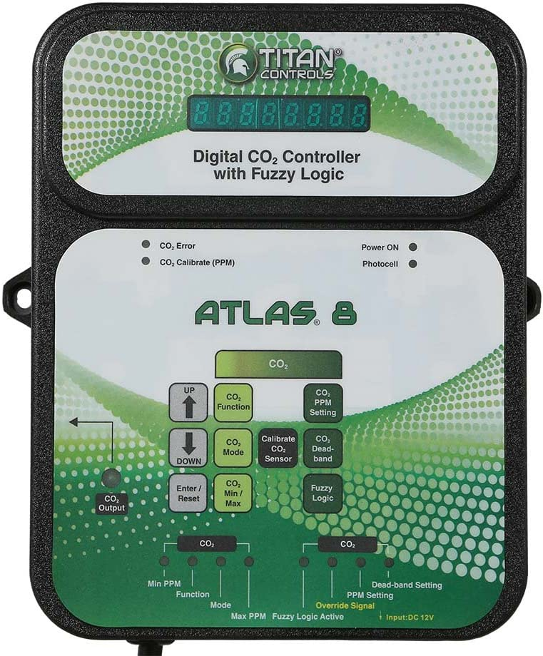 Titan Controls HGC702853 Classic Series Atlas 8-Digital CO2 Controller with Fuzzy Logic, 120 Volt, Black
