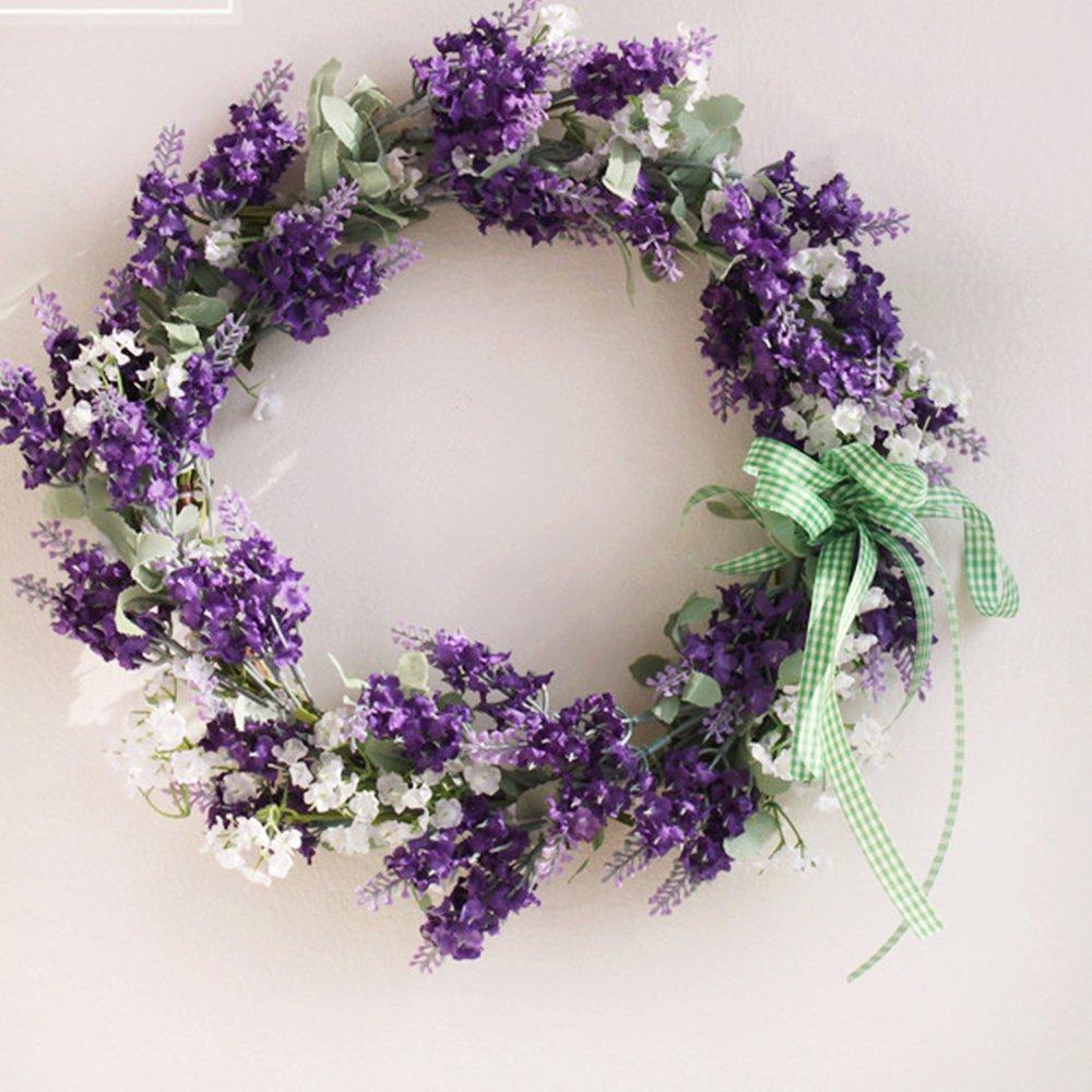 Artificial Wreaths/Lavender Wreaths for Front Door Flower Wreath/Wedding Wreath/Home Decor Wreaths/Beautiful Wreath for Wall