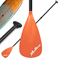 MoiShow SUP Paddle - Adjustable 3 Pieces Stand Up Paddle Board Paddle with Unique Lock Design Floating Alloy Shaft…