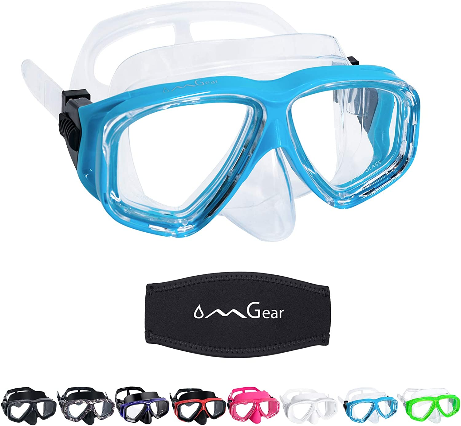 Swimming Goggles with Nose Cover