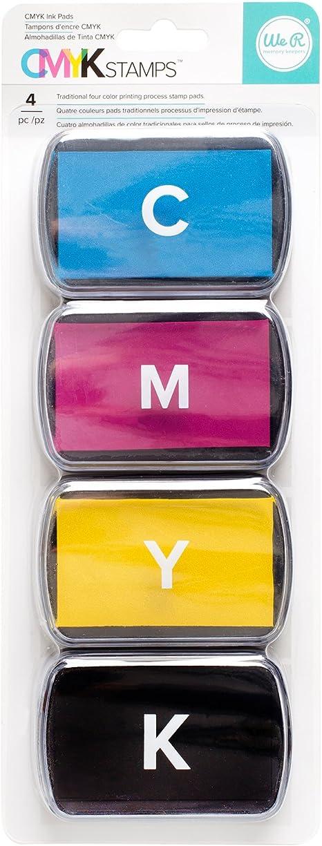 We R Memory Keepers Ink Pad Set De 4 Tintas CMYK para Precision Press, Material sintético, Multicolor, Talla única: Amazon.es: Hogar