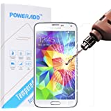 [Galaxy S5 Screen Protector] Poweradd Tempered Glass HD Clear Screen Protector Guard Film for Samsung Galaxy S5, with Anti-Scratch / Anti-Fingerprint / Bubble-Free / Explosion-Proof / Pressure-Resistant / Shockproof -Retail