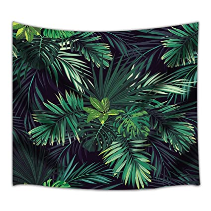 NYMB Palm Tree Leaf Tapestry, Tropic Banana Green Plant, 3D Printing Wall  Art Hanging for Bedroom Living Room Dorm 71 X 60 Inches Wall Blankets Home