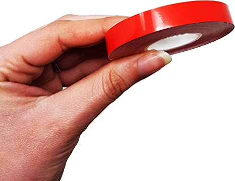 Color Rojo 4R Quattroerre.it 10495 10495-Tiras Adhesivas para Coche 10 mm x 10 m