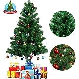 Albero Natale, Christmas Tree, Albero di Natale Artificiale Naturale, Realistico Verde Rami e Foglie, Includere Supporto in Metallo, Decorazione Regalo per Home Office Mall(1.2m)