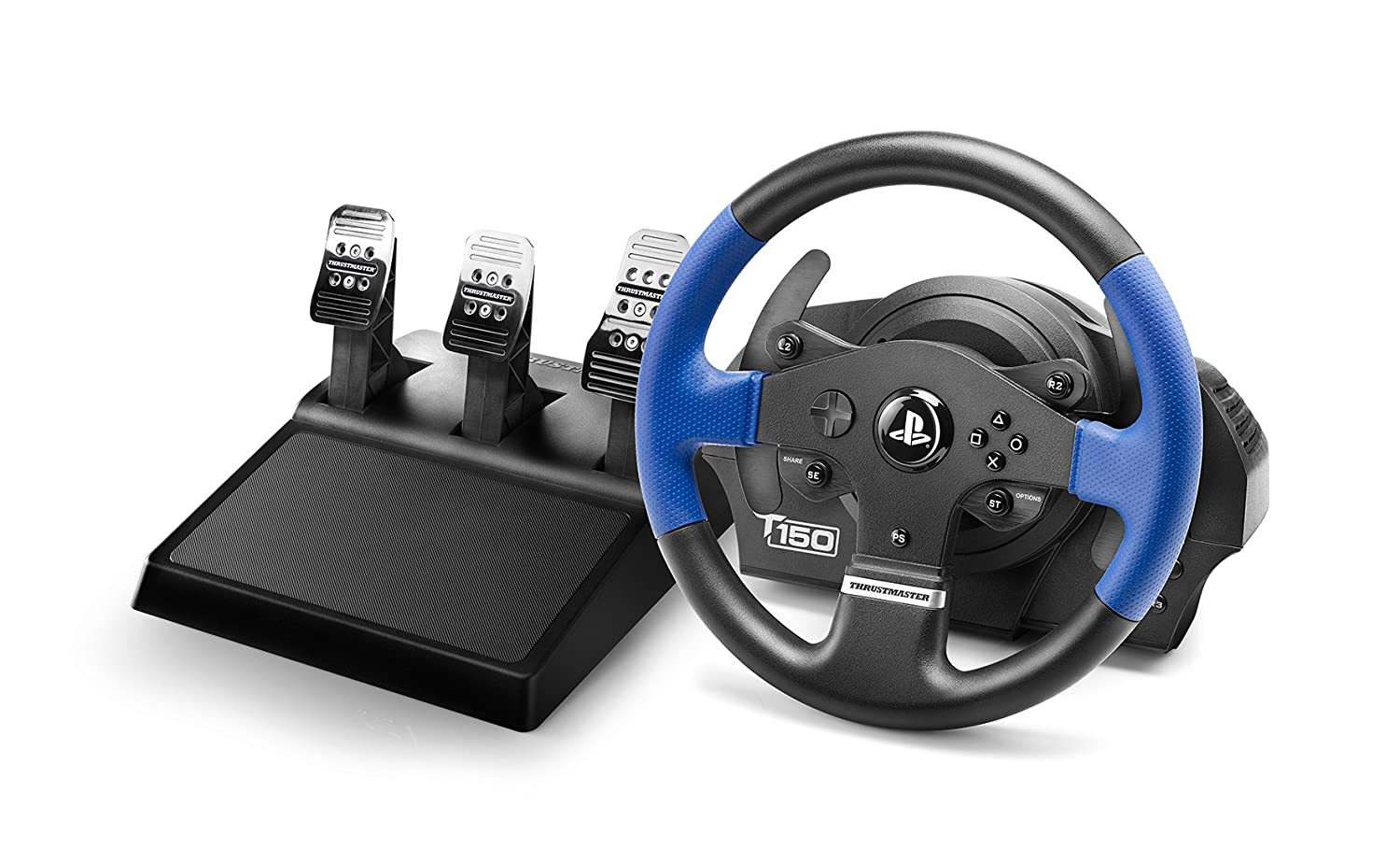 Thrustmaster T150RS PRO - Volante - PS4 / PS3 / PC - Force Feedback - 3 pedales - Licencia Oficial...