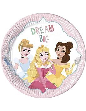 COOLMP - Juego de 12 Platos de cartón Princesas Disney 23 cm ...