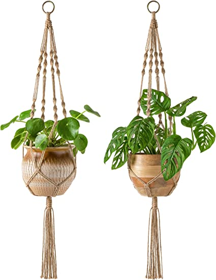 Vintage Macrame Plant Hanger Garden Flower Pot Holder Hanging Rope Basket Decor