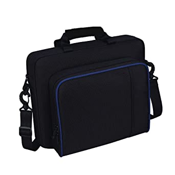Black Oxford Carry Travel Case Shoulder Bag For PS4 Game Consoles/& Accessories