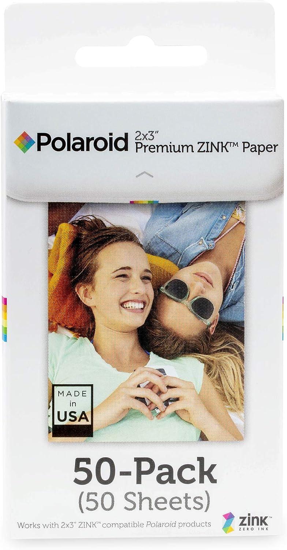 Polaroid Premium ZINK Paper Papel fotográfico 2 x 3'', 50 Hojas