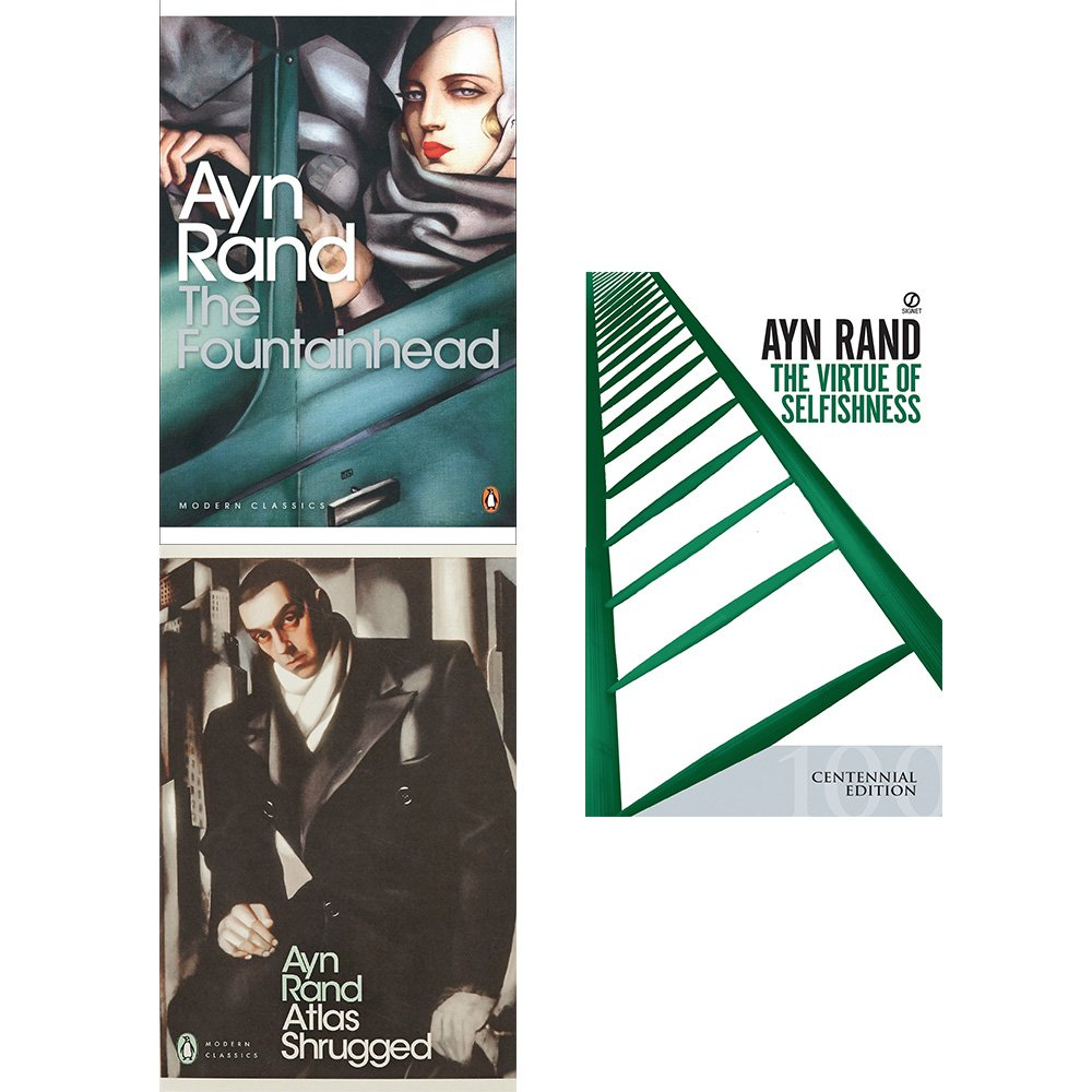Fountainhead, atlas shrugged and virtue of selfishness 3 books collection set pdf epub
