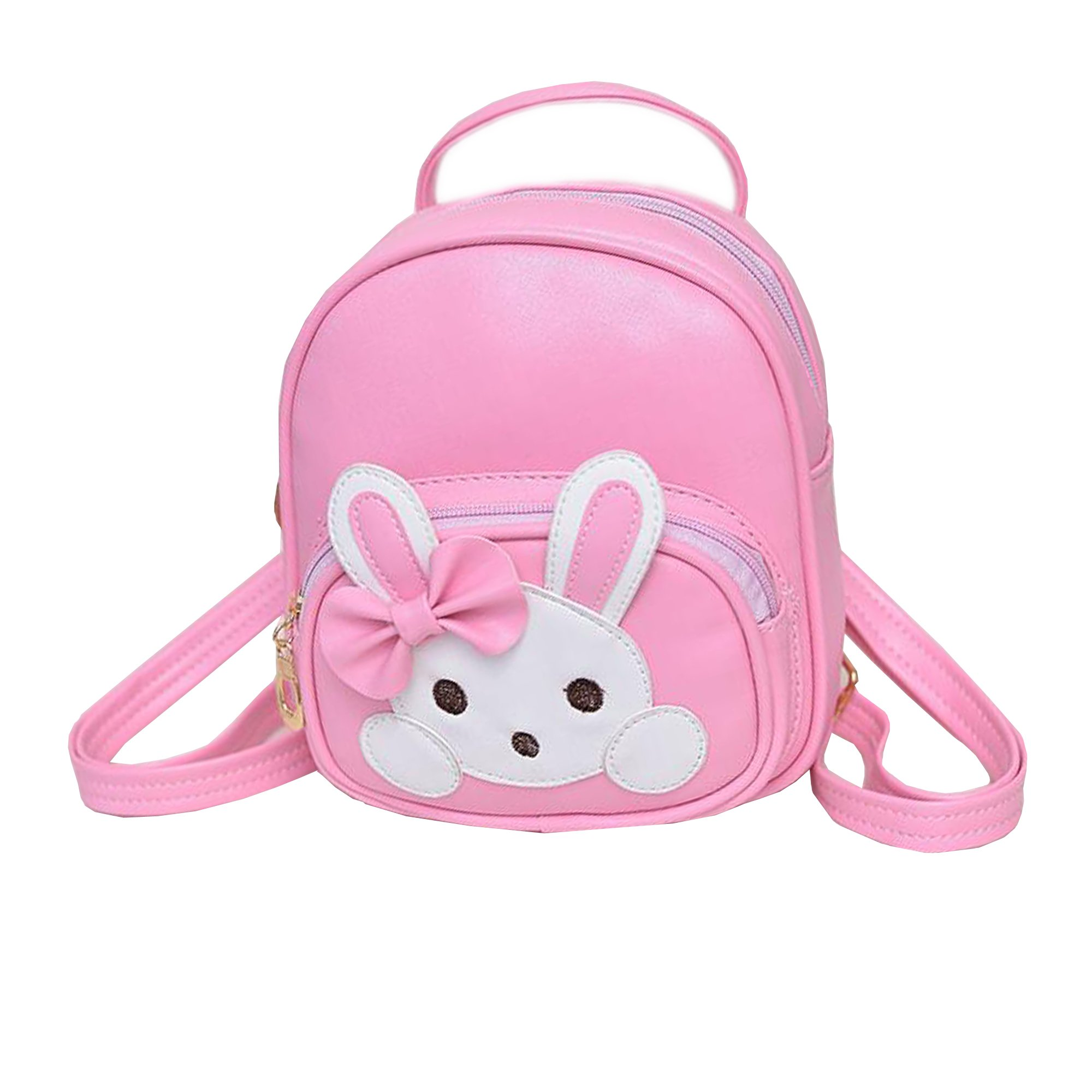 JIANBAO Girls Kids Rabbit Mini Backpack Travel School Book Bags Children Lovely Daypack Satchel (pink)