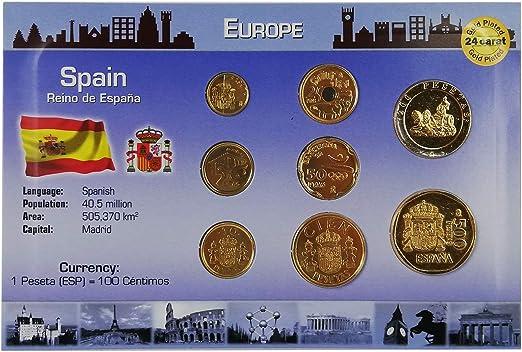 IMPACTO COLECCIONABLES Monedas de ESPAÑA - Las Últimas Pesetas Bañadas en Oro de 24 Quilates: Amazon.es: Juguetes y juegos
