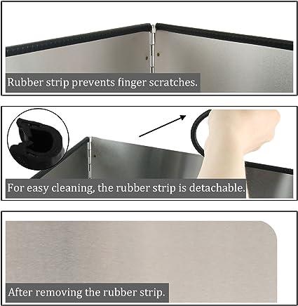 uxcell - Panel protector antisalpicaduras de acero inoxidable para pared de cocina: Amazon.es: Hogar