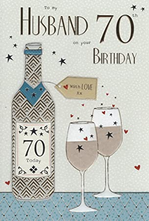Husband on your 70th birthday birthday card amazon kitchen husband on your 70th birthday birthday card bookmarktalkfo Images