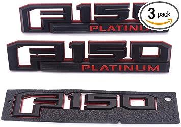 2x OEM F-150 PLATINUM Badge 3D logo Emblem Fender For Ford F150 F Genuine Chrome