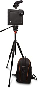 Padcaster Starter Kit for Portable Filmmaking, Basic Video Production Beginner Kit for iPads, Compatible with iPad Pro 10.5