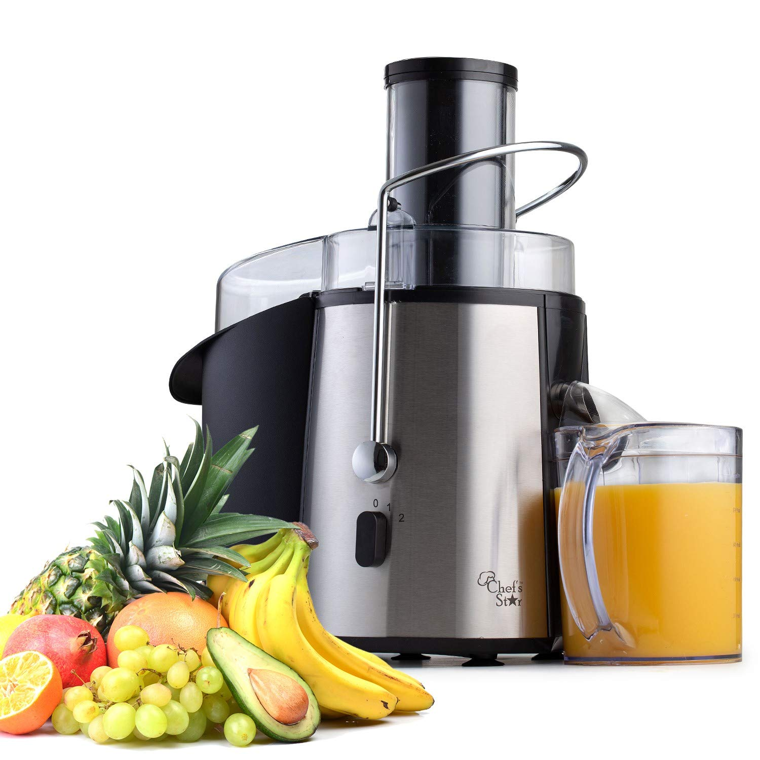 Juicer Extractor Machine, Electric Fruit & Vegetable Juice Maker Quiet 700 Watt Power Motor, Wide Mouth For Whole Fruits & Vegetables Easy To Clean, Best For Home & Kitchen - BPA Free