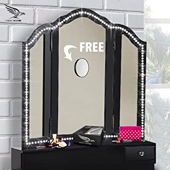 Vanity lights with free 10x magnifying mirror hollywood style vanity lights with free 10x magnifying mirror hollywood style make up led light strip aloadofball Gallery