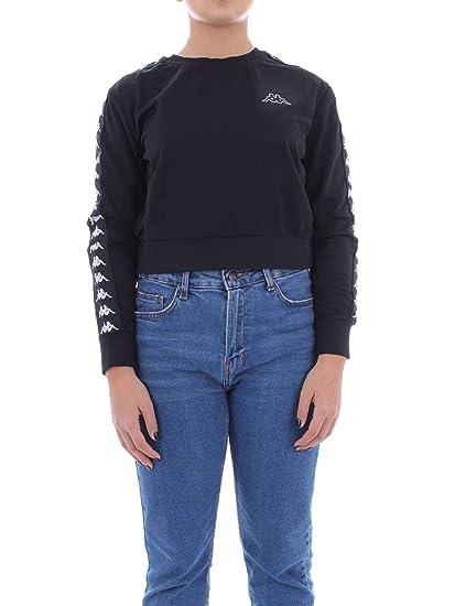 e22b483e Kappa Women's 3031UV0908 Black Cotton Sweatshirt: Amazon.co.uk: Clothing