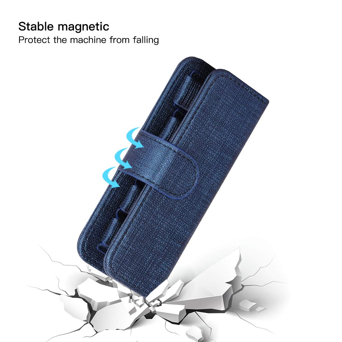 Carrying Case for Juul RELX YOOZ and Most Small Pen Devices Pods Blue Hold Protective Podcase Organizer Bag Round Portable EVA Wallet Bag Waterproof Shockproof Traveling Storage Bag