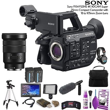 Amazon.com: Sony PXW-FS5M2 - Videocámara compacta 4K XDCAM ...