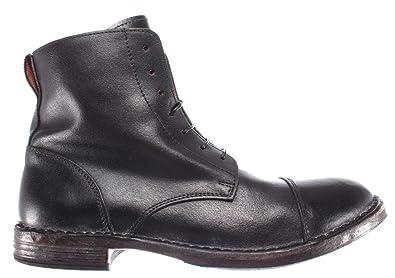 a4570d0a270d MOMA Herren Stiefel Boot Schuhe 66702-R3 Pelle Leder Schwarz Vintage Made  Italy