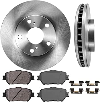 Rear Brake TQ Disc Rotors And TEC Ceramic Pads Kit Toyota Camry Solara
