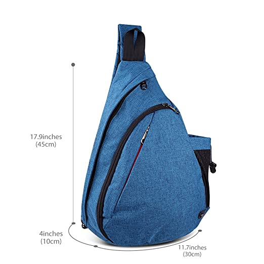 Amazon.com  OutdoorMaster Sling Bag - Crossbody Backpack for Women   Men (Azure  Blue)  Sports   Outdoors ce2501c71a6f0