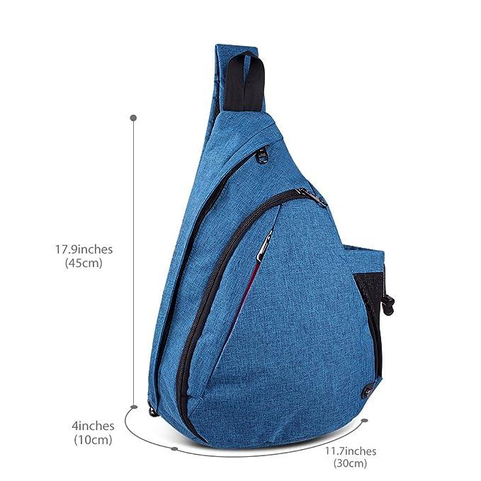 775fa8cf7993 Amazon.com  OutdoorMaster Sling Bag - Crossbody Backpack for Women   Men  (Azure Blue)  Sports   Outdoors