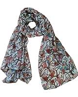 Owl Print Scarf Bird Patterns Ladies Fashion Scarves Multi Color