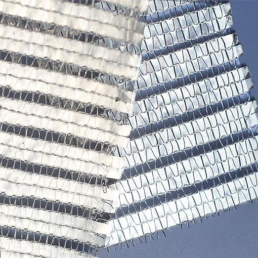 Red de Sombra 75% De Sunblock. Tela De Aluminio For Cortinas, con Arandelas, Malla Reflectante Resistente A Los Rayos UV, Plateada Y Blanca For Balcón, Pérgola En El Patio. (Size : 2×7M):