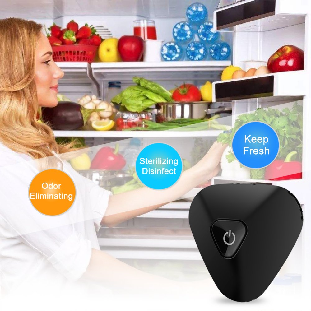Bathrooms and Cars Outcoo USB Portable Ion Ozone Generator Air Purifier Clear Odor Kills Bacteria and Viruses Suitable for Smaller Spaces Such As Refrigerators Clean Air for You and Your Families Outcool