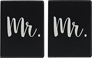 Honeymoon Travel Gifts Mr Newlywed Passport Holder Travel Gifts for Honeymooners Honeymoon in Europe Tropical Vacation Gifts Laser Engraved Leatherette Passport Holder Black
