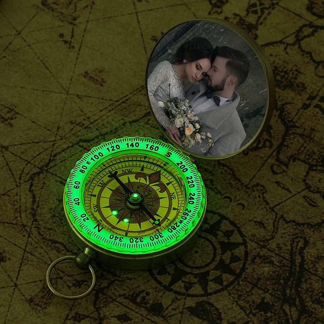 Personalisierter Kompass mit Bild und Gravur