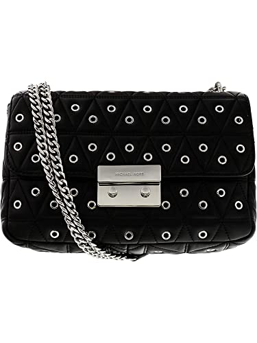 9d854face6ddc Amazon.com  Michael Kors Sloan Large Studded Shoulder Bag- Black ...