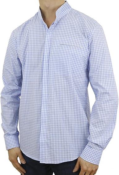 Sinologie – Camisa de cuello oficial de algodón azul cielo