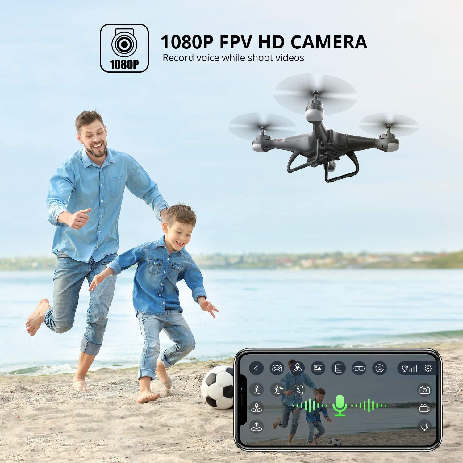 Holy Stone HS110g GPS drone is at #7 for best drones under $150