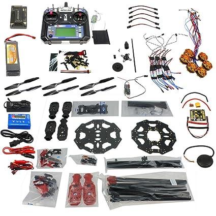 QWinOut Full Set 6-axis Hexacopter Drone Kit: Tarot 680PRO Frame + 700KV  Motor + GPS + APM 2 8 Flight Control + LCD Transmitter