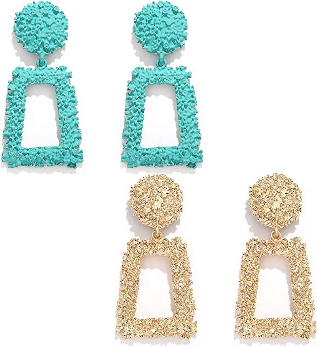 Gray and Gold Earrings Swirl Earrings Abstract Grey Black Rose Earrings Rectangle Geometry Earrings Modern Women Earrings Gift for Her
