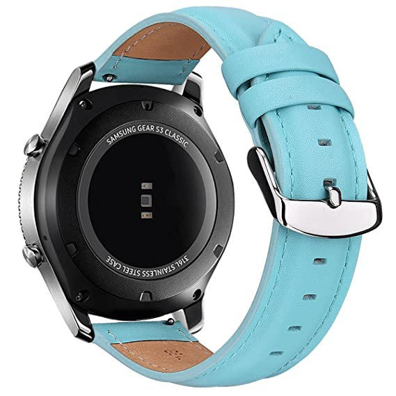 TOROTOP Compatible with Gear S3 Bands/Galaxy Watch 46mm Bands/,22MM Leather Strap Replacement Sport Band/Strap for Samsung Gear S3 Frontier/S3 Classic ...