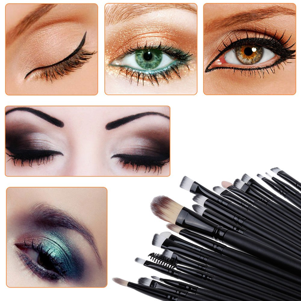 20tlg kosmetikpinsel make up pinsel pinselset schminkpinsel kosmetik brush ebay. Black Bedroom Furniture Sets. Home Design Ideas