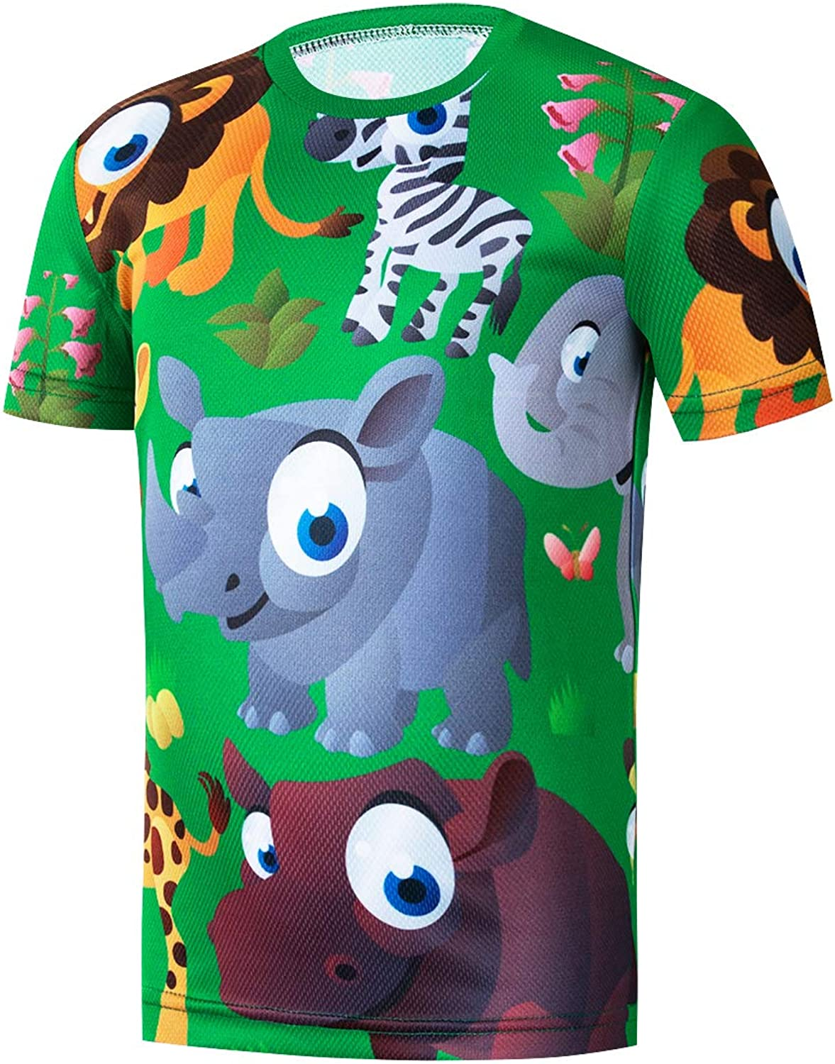 Cycling Jersey Kids,Bike Short Sleeve for Girls Boys Breathable T-Shirt