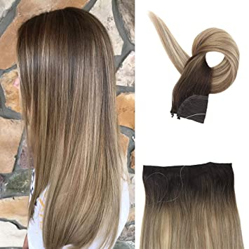 Flip in extensions balayage