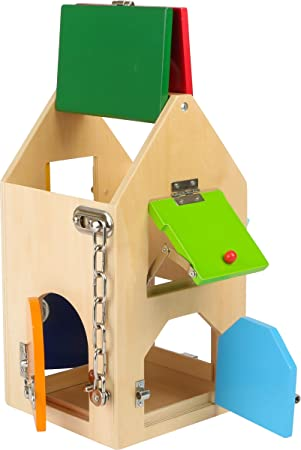 Small Foot 4432- Casa de cerraduras educación, método Montessori: Amazon.es: Juguetes y juegos