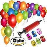 200 palloncini colorati per matrimoni, feste di compleanno - 25 cm palloncini in lattice + pompa (colori casuali) + 6 nastri