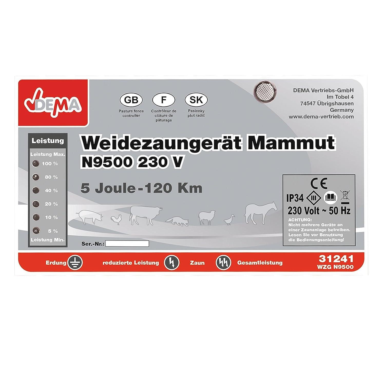 DEMA Weidezaungerät Mammut N9500 230V: Amazon.de: Baumarkt