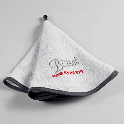 Douceur dinterno Asciugamano Rotondo 60 cm Spugna Ricamo Carlota